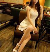 性感連身裙低胸吊帶裙修身短裙打底裙洋裝