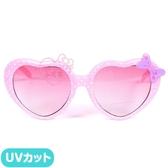 ♥小花花日本精品♥Hello Kitty 凱蒂貓粉色愛心蝴蝶結造型兒童墨鏡抗UV太陽眼鏡-32092105