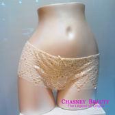 Chasney Beauty-Petel蕾絲S-L網紗平口褲(牙白)