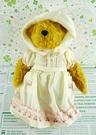 【震撼精品百貨】日本日式精品_熊_Bear~絨毛玩偶-咖啡熊-米色洋裝-櫻桃