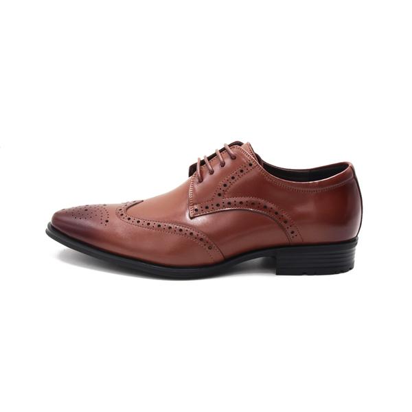W&M(男)氣墊感 雕花綁帶皮鞋 男鞋-棕(另有黑)