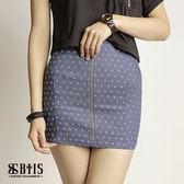 【BTIS】滿版彈性單片短裙  / 藍色
