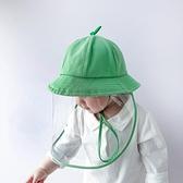 兒童防護帽漁夫帽春夏男女寶寶防飛沫面罩嬰幼兒遮陽防曬防疫帽子 韓美e站