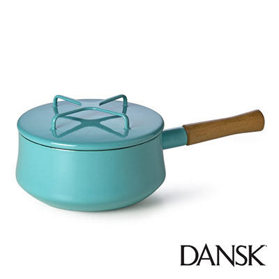 里和Riho Dansk Kobenstyle 木柄片手鍋 2QT(藍綠)