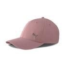 Puma 桃粉色 帽子 運動帽 老帽 遮陽帽 六分割帽 金屬LOGO 運動帽 02126936
