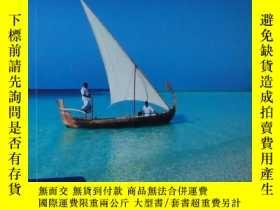 二手書博民逛書店◇英文原版書罕見Lonely Planet Maldives 馬