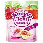 義美椰果蒟蒻果凍蘋果+草莓424g【愛買】