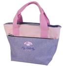 小禮堂 美樂蒂 帆布雙層保冷便當袋 保冷提袋 保溫袋 野餐袋 (紫 大臉) 4930972-51624