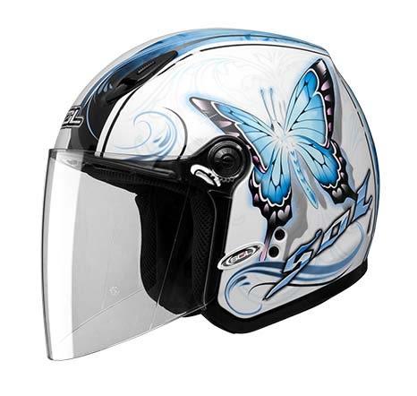[東門城] SOL SL-27Y 蝴蝶三代 白藍 3/4罩安全帽