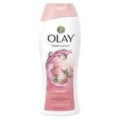 美國Olay 極潤保濕沐浴乳-白草莓香(650ml*3)