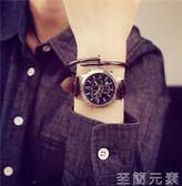 女士手錶韓國簡約手錶男女學生韓版防水復古男女表皮帶石英表情侶手錶一對 至簡元素