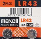 maxell LR43 186 鈕扣型電池/一排10顆入(促20) 1.5V 鈕扣電池 手錶電池-傑梭