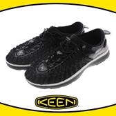 【KEEN 美國 男 編繩包鞋《黑/白》】1018708/涼鞋/休閒涼鞋/水陸兩用鞋