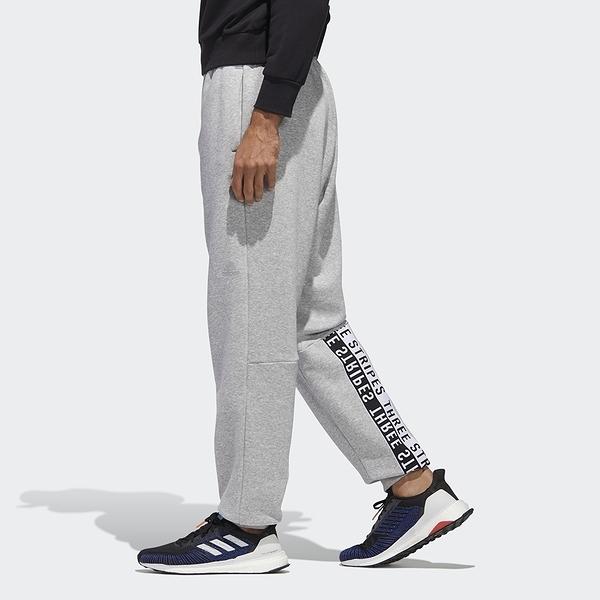 Adidas MUST HAVES WORD 男裝 長褲 慢跑 休閒 串標 棉質 口袋 灰【運動世界】GE0353
