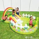 兒童充氣游泳池戶外大型號海洋球池沙池家用寶寶噴水戲水池 喵小姐