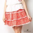 滿版櫻桃梗犬印花三層蛋糕裙 Scottish House【AA2160】