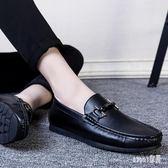 夏季豆豆真皮男鞋男士休閒皮鞋懶人鞋一腳蹬韓版套腳潮男鞋子 BP1330【Sweet家居】