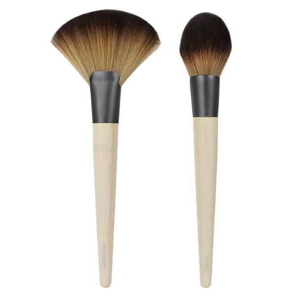 【愛來客 】美國新款古銅色Ecotools Define & Highlight Duo扇形刷及高光提亮刷2件化妝刷組