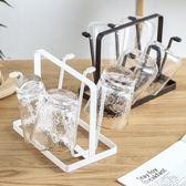日式鐵藝杯子架 瀝水置物架創意家用晾杯架水杯收納架掛架
