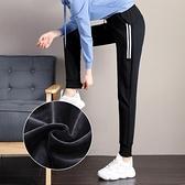 加絨運動褲女潮衛褲秋冬季寬鬆束腳女褲2020年新款哈倫褲休閒褲子 蘿莉新品