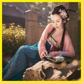 改良漢服女襦裙中國風棠梨煎雪漢服古裝女仙女飄逸清新淡雅成人禮