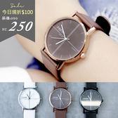 Leisure.香港FEIFAN。十字線條極簡真皮革錶帶手錶【ta510】*911 SHOP*