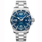LONGINES 浪琴 Conquest 系列潛水機械錶-藍x銀/44mm L38414966