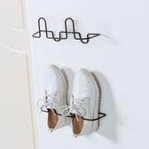 ✭慢思行✭【J180】掛壁式立體鞋架 黏貼式 鐵藝鞋架 浴室 拖鞋架 鞋托架 鞋收納架 掛牆 不占位