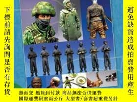 二手書博民逛書店Static罕見model manual 11 Military Figures for Dioramas-靜態模