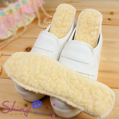 【93A02】shiny藍格子-冬季加厚款舒適保暖羊羔絨鞋墊