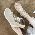 仙女風羅馬鞋夏季新款韓版潮流文藝網紅瑟琳娜露趾平底涼鞋 【全館免運】