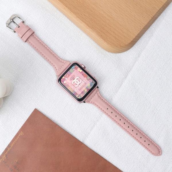 真皮錶帶 小蠻腰 女生款 apple watch 1 2 3 4 5 6 SE 蘋果手錶帶 iwatch 38 40 42 44mm 腕帶 替換帶