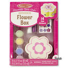 《 美國 Melissa & Doug 》親子美勞 DIY - 木製花形珠寶盒╭★ JOYBUS歡樂寶貝