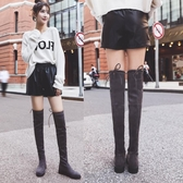 靴子女秋款2019新款冬季平底瘦瘦靴高筒長靴彈力顯瘦長筒過膝靴