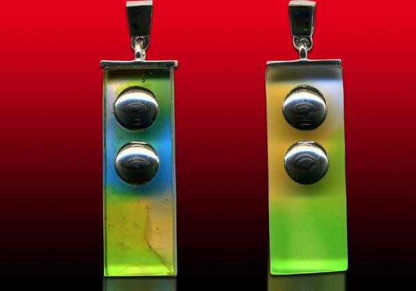 鹿港窯~開運古法水晶琉璃銀飾項鍊~亞當、夏娃優惠組合◆附精美包裝◆免運費送到家