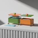 口罩收納盒 [空之喵喵]北歐ins創意貓爪口罩收納盒玄關大容量帶蓋防塵防污 米家