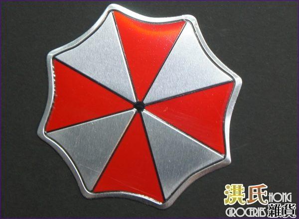 【洪氏雜貨】  258A297     貼飾鋁貼薄   雨傘8cm   單入     噴繪版個性貼 汽車機車貼紙