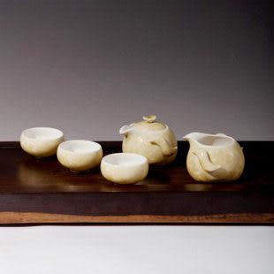 黑檀定窯結晶黃茶具套裝