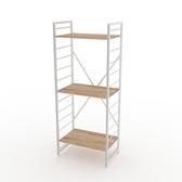 (組)特力屋萊特三層架白框/淺木紋-60x40x158cm