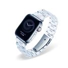 冰川透明 蘋果錶帶 Apple Watch Series1~6/SE代 通用 晶瑩剔透 透明三珠錶帶 贈錶帶調整器