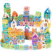 幼兒童益智塑料拼裝積木3d立體拼圖3-6周歲4-7男女孩智力開發玩具限時八九折