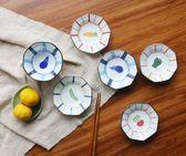 年終盛宴  日本進口 藍凜堂 彩野菜 白瓷 八角小付|醬料碟|果子皿   初見居家