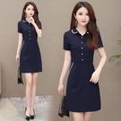 OL洋裝 職業連身裙2020夏季新款OL短袖連身裙收腰氣質顯瘦包臀裙工作服女 JX3753『東京衣社』