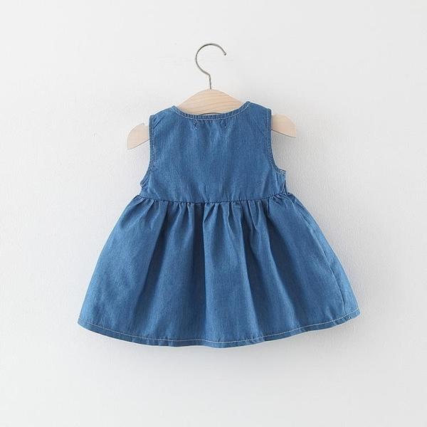 洋氣童裝女童洋裝夏裝兒童無袖牛仔背心裙小女孩寶寶公主裙夏季 幸福第一站