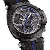 TISSOT 天梭 T-RACE MOTOGP 限量賽車錶-黑x藍/45mm T0924173706100