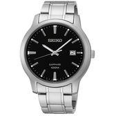 【僾瑪精品】SEIKO 精工 簡約時尚大三針黑面錶盤腕錶-40mm/7N42-0GE0D(SGEH41P1)