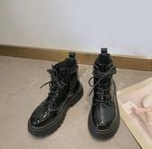 馬丁靴 短靴女單靴英倫風靴子女2019春款百搭楊冪同款機車黑色馬丁靴2020【快速出貨】