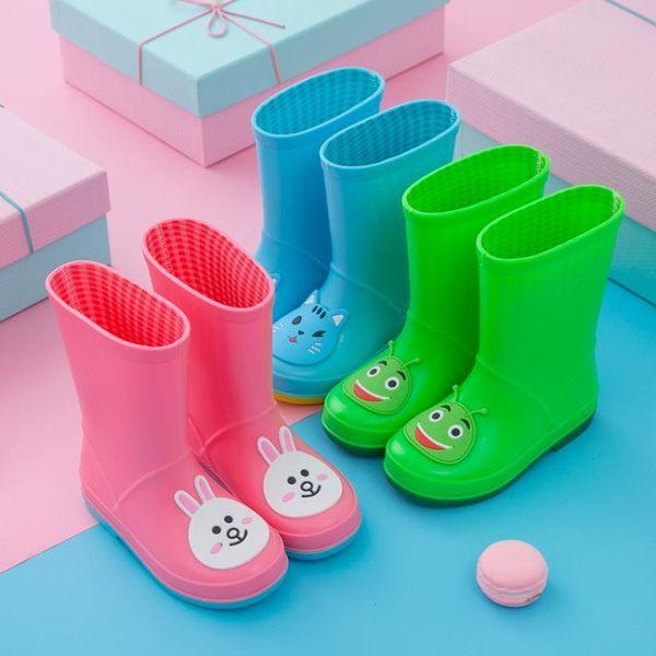 雨鞋 男童女童防滑寶寶雨靴 學生四季卡通水鞋小童水靴 【店慶8折促銷】