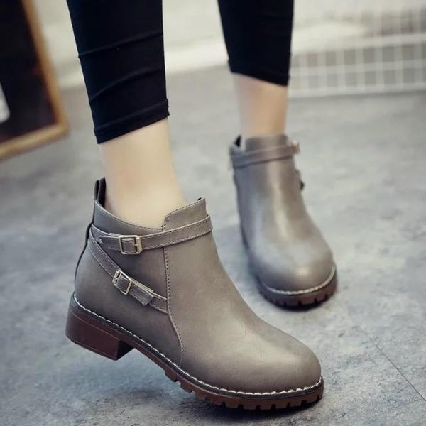 Dingle丁果ღ雙扣環拉鍊騎士短靴*2色