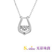 【光彩珠寶】日本舞動鑽石項鍊 愛的絃律